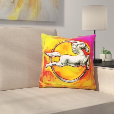 Deco Horse Circle Throw Pillow