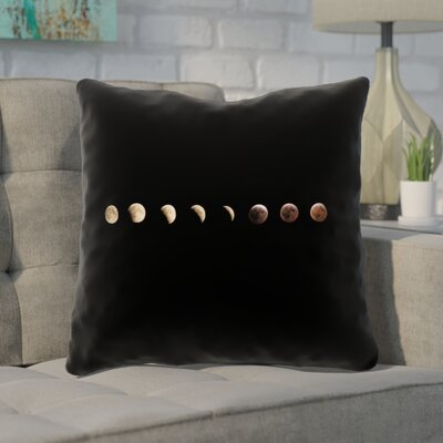 Shepparton Moon Phases 100% Cotton Throw Pillow Size: 18 x 18