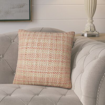 Polytric Plaid Throw Pillow Color: Russett