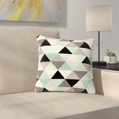 Crystal Walen Triangle Geo Outdoor Throw Pillow Size: 16 H x 16 W x 5 D