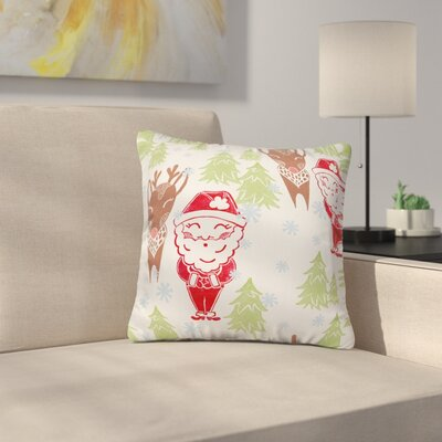 Dash and Ash Best Bros from the North Pole Throw Pillow Size: 16 x 16