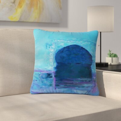 Oriana Cordero Chefchaouen City Outdoor Throw Pillow Size: 16 H x 16 W x 5 D
