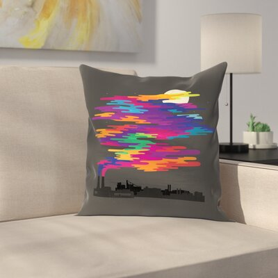 Joe Van Wetering Hidden in the Night Smog Throw Pillow Size: 20 x 20