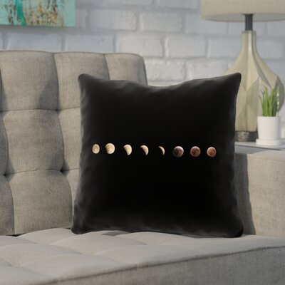 Shepparton Moon Phases Outdoor Pillow Size: 18 x 18