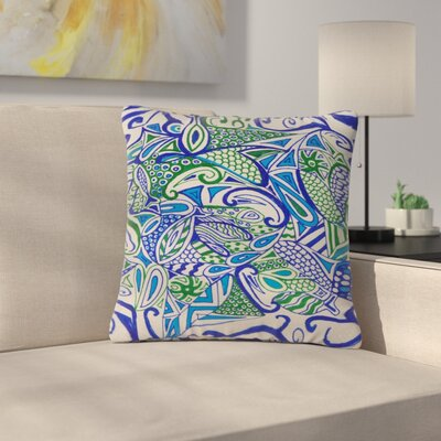 Rosie Brown Zentangle Outdoor Throw Pillow Size: 18 H x 18 W x 5 D
