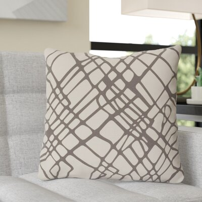 Ochoa Down Throw Pillow Size: 22 H x 22 W x 4 D, Color: Gray/Ivory