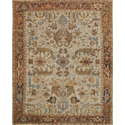 Persian Serapi Hand-Knotted Wool Brown/Beige Area Rug
