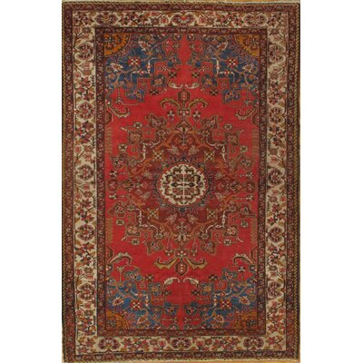 Persian Tafresh Hand-Knotted Wool Red Area Rug