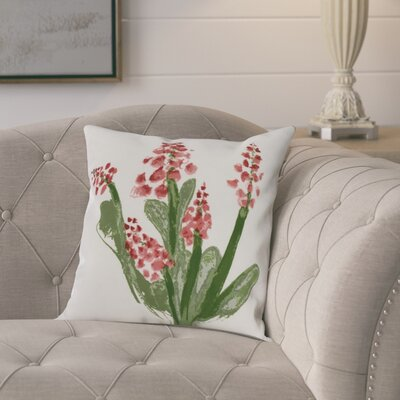 Laymon Throw Pillow Color: Red, Size: 20 x 20
