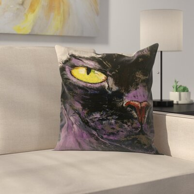 Michael Creese Sphynx Cat Throw Pillow Size: 14 x 14