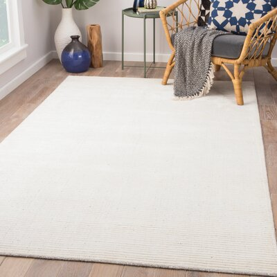 Eastvale Hand-Woven Gardenia/Nimbus Cloud Area Rug Rug Size: Rectangle 8 x 10