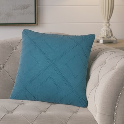 Kingsburg Decorative 100% Cotton Throw Pillow Color: Peacock Blue
