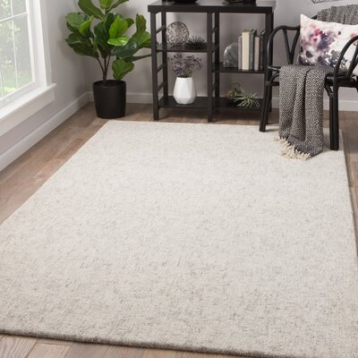 Widger Hand-Tufted Snow White/Fallen Rock Area Rug Rug Size: Rectangle 9 x 12