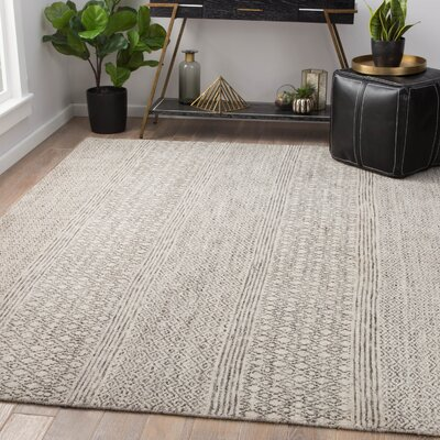 Maglio Hand-Knotted Wool Oatmeal/Bungee Cord Area Rug Rug Size: Rectangle 10 x 14