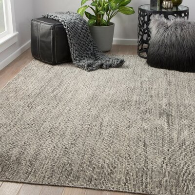 Magnuson Hand-Knotted Wool Fallen Rock/Oatmeal Area Rug Rug Size: Rectangle 9 x 12