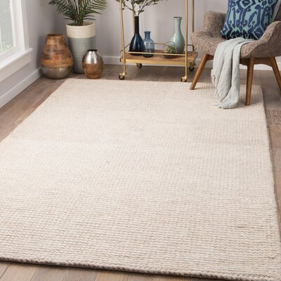 Maisonet Hand-Woven Tidal Foam Area Rug Rug Size: Rectangle 5 x 8