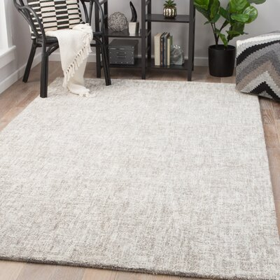 Widger Hand-Tufted Turtledove/Moon Rock Area Rug Rug Size: Rectangle 2 x 3