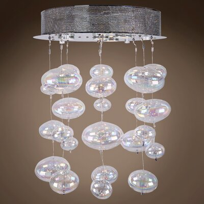 Selma 4-Light Cluster Pendant Bulb Type: LED