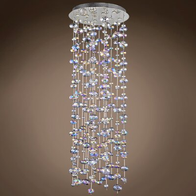 Selma 10-Light Cluster Pendant Bulb Type: LED
