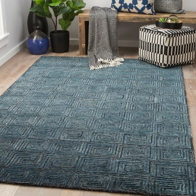 Heavner Hand-Tufted Atlantic Deep/Poseidon Area Rug Rug Size: Rectangle 5 x 8