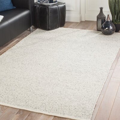 Magruder Hand-Woven Whitecap Gray/Flint Gray Area Rug Rug Size: Rectangle 8 x 10