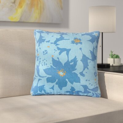 Strawbridge Floral Cotton Throw Pillow Color: Calypso