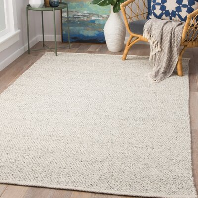 Mahan Hand-Woven Wool Fungi/Moonbeam Area Rug Rug Size: Rectangle 8 x 11