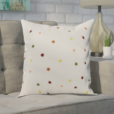 Carmanor Dots Pillow Color: Rust, Size: 26 x 26
