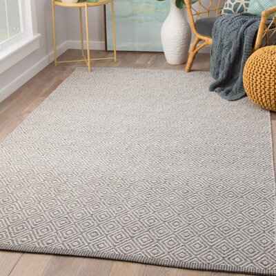 Majeski Hand-Woven Wool Moonstruck/Frost Gray Area Rug Rug Size: Rectangle 5 x 8