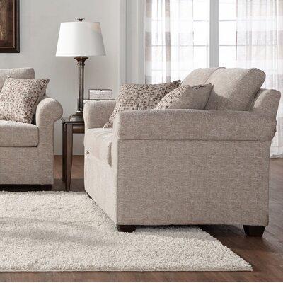 Easter Compton Loveseat Upholstery: White