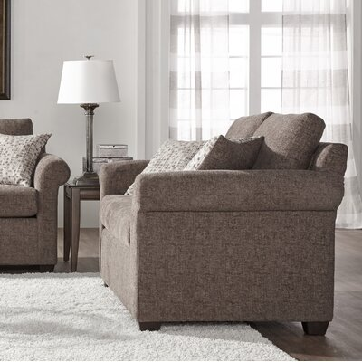 Easter Compton Loveseat Upholstery: Light Brown