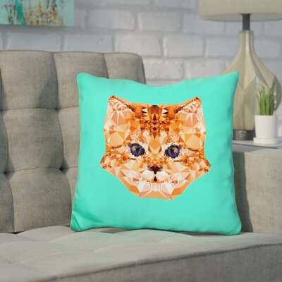 Corker Kitten Throw Pillow