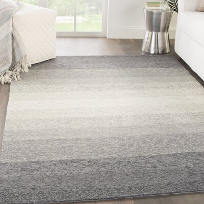 Sarno Hand-Hooked Ombre Blue/Overcast Area Rug Rug Size: Rectangle 76 x 96