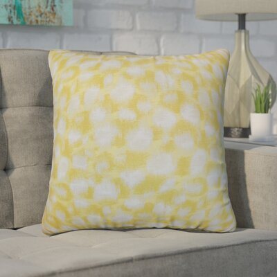 Kibby Geometric Throw Pillow Cover Size: 20 x 20, Color: Banana