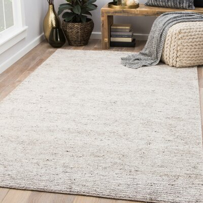 Hollman Hand-Woven Elephant Skin/Turtledove Area Rug Rug Size: Rectangle 8 x 10