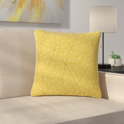 Michelle Drew Wanderlust River Song Geometric Outdoor Throw Pillow Size: 18 H x 18 W x 5 D, Color: Yellow