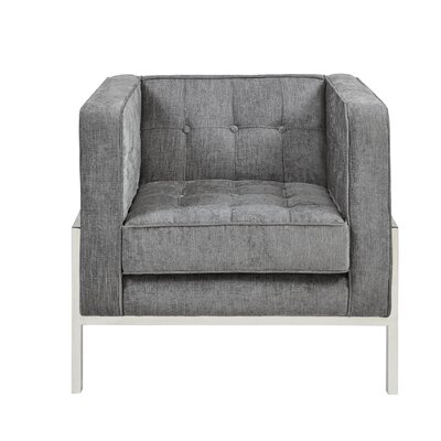 Alex Armchair Upholstery: Gray