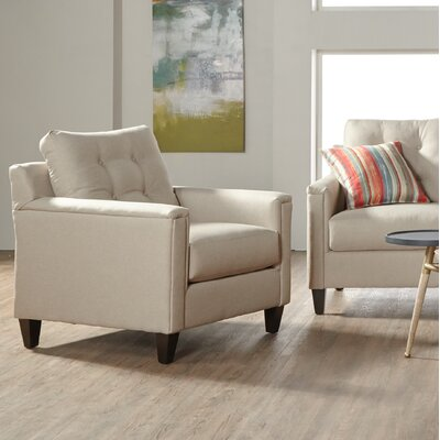 Longshore Armchair Upholstery: White