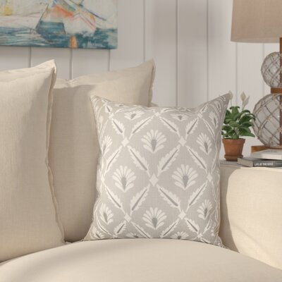 Deveal Geometric Cotton Throw Pillow Color: Steel, Size: 18 x 18