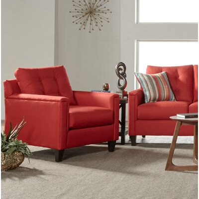 Longshore Armchair Upholstery: Red