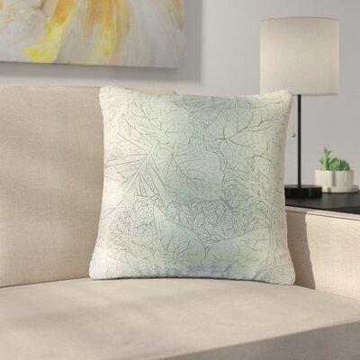 Greenbriar Stringham Floral Cotton Throw Pillow Color: Cove