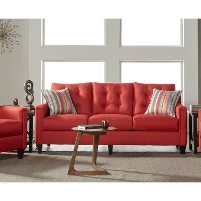 Longshore Sofa Upholstery: Red