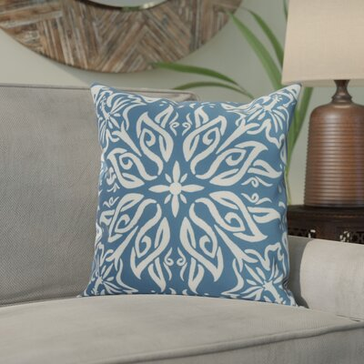 Crisler Print Indoor/Outdoor Throw Pillow Color: Teal, Size: 16 x 16