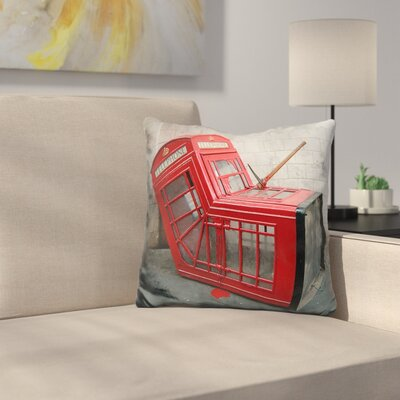 Telephone Box/ Phonebooth Throw Pillow
