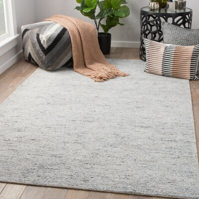 Hollman Hand-Woven Dusty Blue/Feather Gray Area Rug Rug Size: Rectangle 8 x 10