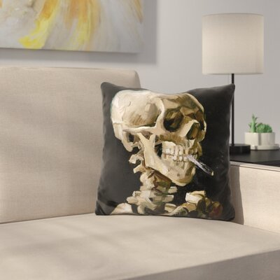 Skul of A Skeleton Throw Pillow