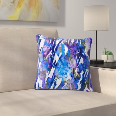 Ebi Emporium Frosty Bouquet 3 Outdoor Throw Pillow Size: 16 H x 16 W x 5 D
