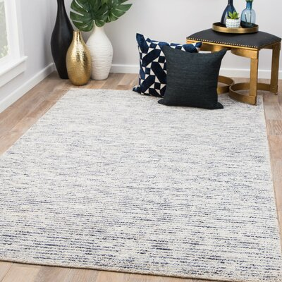 Hollman Hand-Woven Blue Area Rug Rug Size: Rectangle 5 x 8