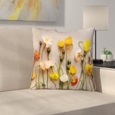 Tuyen Dried Flowers Double Sided Print Square Throw Pillow Size: 16 x 16, Product Type: Pillow Cover