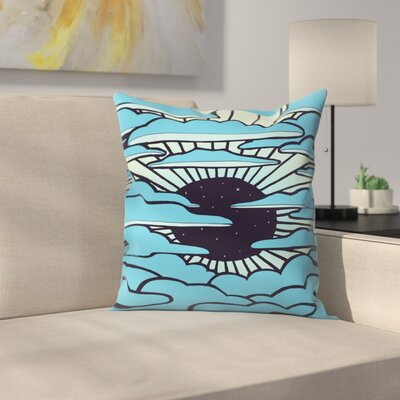 Joe Van Wetering New Sun Throw Pillow Size: 20 x 20